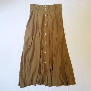 Vintage Karen Kane Olive/Mustard Maxi Skirt 10